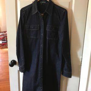 Ralph Lauren dark blue denim coat/dress size 8